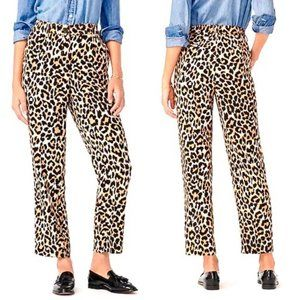 J Crew Tailored Relaxed Fit Pants Leopard Print 2